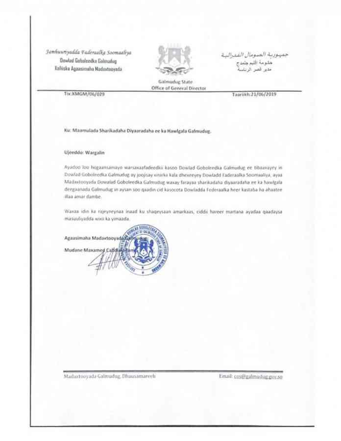 maamulka-galmudug-oo-deegaannadiisa-ka-mamnuucday-mas'uuliyiinta-dowladda-somaliya