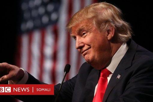 Trump oo isku meel dhigay Soomaalida iyo dadka reer Nigeria