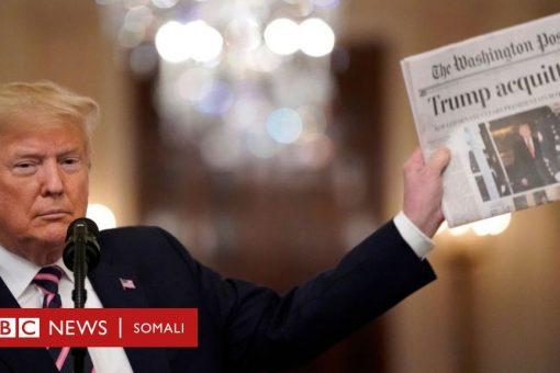 Trump: 'Codawgeyga siyaasadeed waan ka guuleystay'