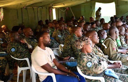 AMISOM Ugandan troops mark 'Tarehe Sita'.