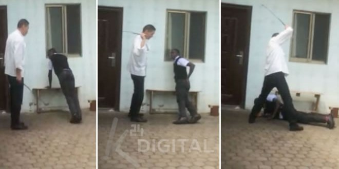 chinese-hotel-manager-captured-on-camera-caning-kenyan-employee-for-being-late