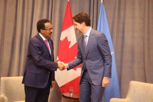 Madaxweyne Farmaajo Oo Raysal Wasaaraha Canada Kula Kulmay Addis Ababa + Waxa Ay Kawada Hadleen  ( SAWIRRO )
