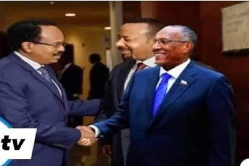 Madaxyane Farmaajo Iyo Madaxweyne Muuse Biixi  Oo Kullan Gaara Ku Yeeshay Addis Ababa