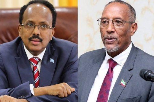 Madaxweyne Farmaajo iyo Muuse Biixi oo magaalada Addis Ababa ku kulmay