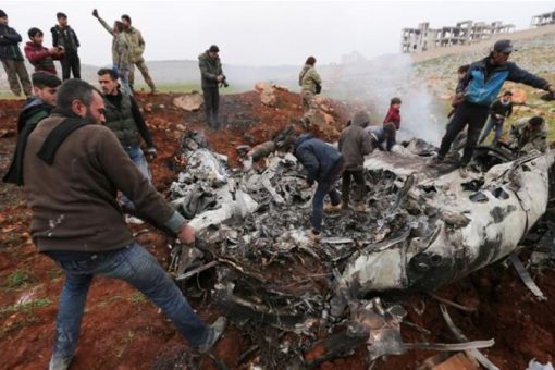 Syrian military helicopter downed as Idlib fighting intensifies