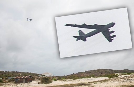 B-52 Bomber Spotted Flying Low Just Off Somali Coast