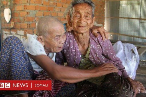 Walaalo u dhashay Cambodia oo 98 iyo 101 jir ah oo 47 sanadood kaddib midoobay
