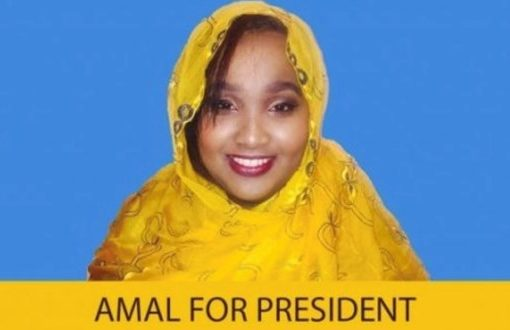 Amal Abdirahman campaigning to become president in Somalia 2020