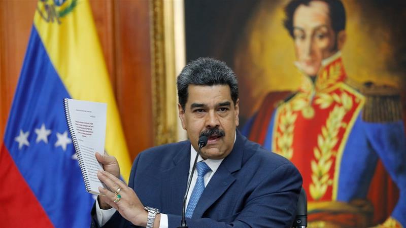 Venezuela says US drug charges against Maduro show 'desperation'